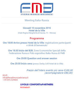 Meeting Italia-Russia